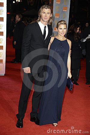 Elsa Pataky, Chris Helmsworth Editorial Stock Image