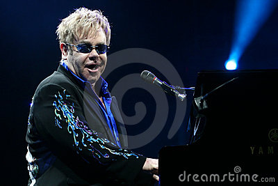 Elton John Editorial Stock Image