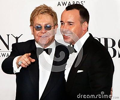 Elton John and David Furnish Editorial Photo