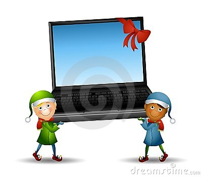 Elves Carrying Laptop