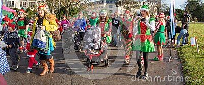 Elves In Christmas Parade Free Public Domain Cc0 Image