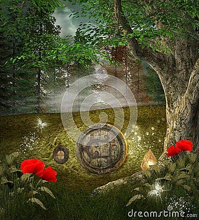 Free Elves Secret House Royalty Free Stock Photos - 27607518