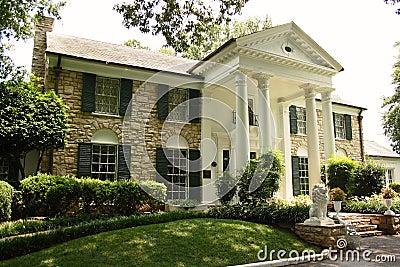 Elvis graceland豪宅孟菲斯presley 编辑类库存照片
