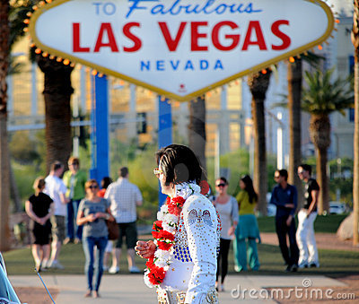Elvis in Las Vegas Editorial Stock Photo