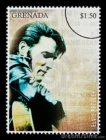 Elvis Presely Postage Stamp Editorial Photography