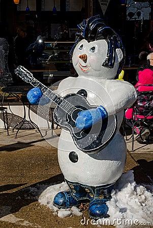 Elvis snowman