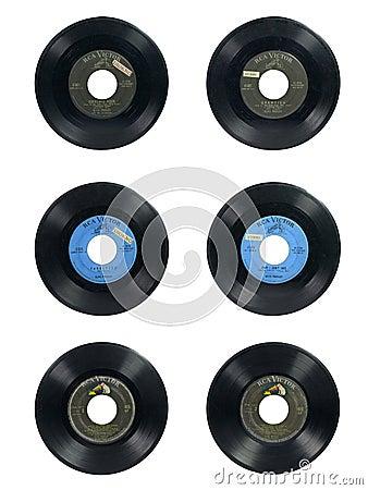 Elvis vinyls Editorial Photography