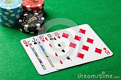 Em linha reta no póquer