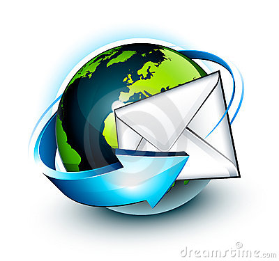 Free Email Around World Globe Royalty Free Stock Image - 16331156
