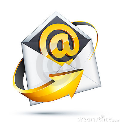 Email and arrow concept