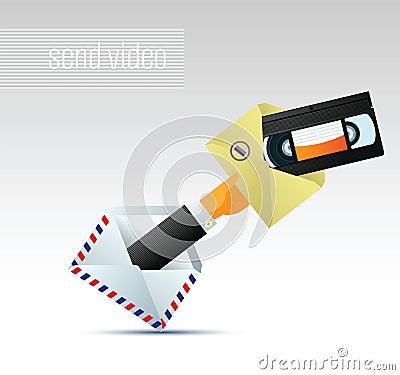 Email avec le vidéo