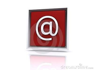 Email @ button in red