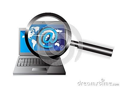 Email del foco del ordenador