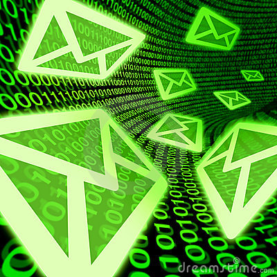 Email e-mail digital mail spam binary code symbol