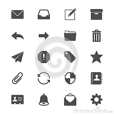 Free Email Flat Icons Royalty Free Stock Photo - 41408265