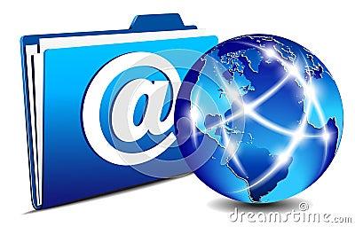 Email folder and communication Internet World