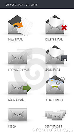Email Icons Stock Images - Image: 16403744