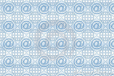 Email Pattern Background Royalty Free Stock Photos - Image: 6560888