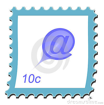 Email Stamp Stock Photo - Image: 14336750