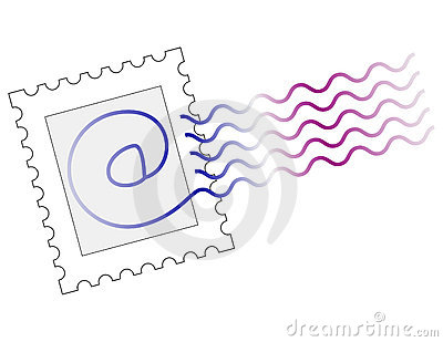 Email Stamp Mark Royalty Free Stock Photo - Image: 111365