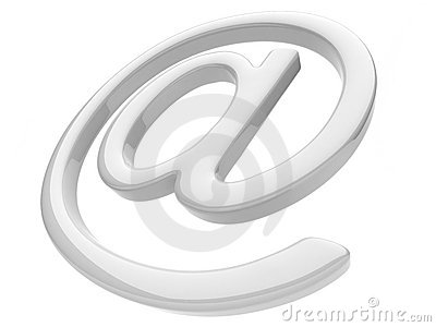 Email symbol 3D. Isolated