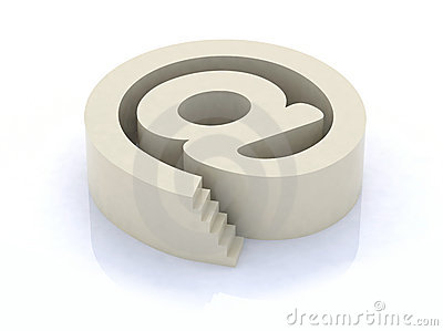 Email symbol with stair