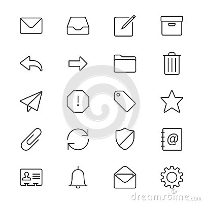 Free Email Thin Icons Stock Image - 49218131