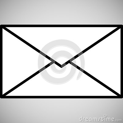 Email icon isolated Stock Photo