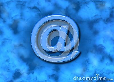 Email @ Web Symbol & Blue Background