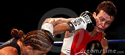 Emanuela Pantani Vs Bettina Garino - WBA BOXE Editorial Stock Photo