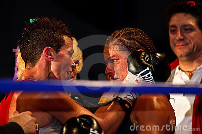 Emanuela Pantani Vs Bettina Garino - WBA BOXE Editorial Photo