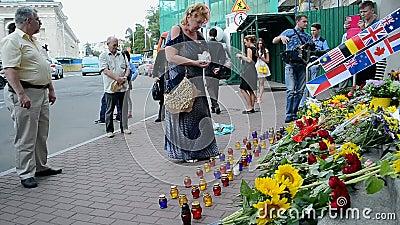 Embaixada dos Países Baixos (Kiev), memorial MH17 memorável, vídeos de arquivo