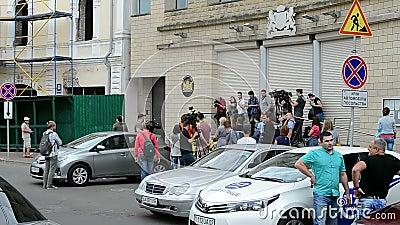 Embaixada dos Países Baixos (Kiev), repórteres durante o memorial memorável, filme