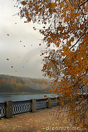 Embankment on autumn