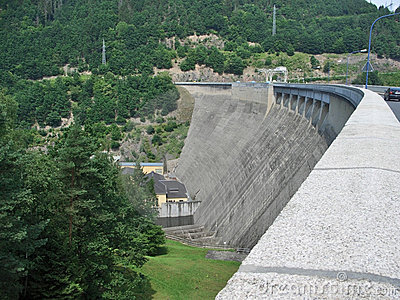 Embankment dam in Thuringia