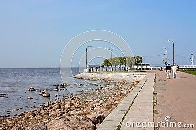 Embankment Gulf of Finland