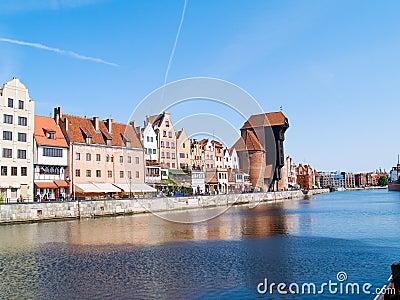 Embankment  of Motlawa river, Gdansk