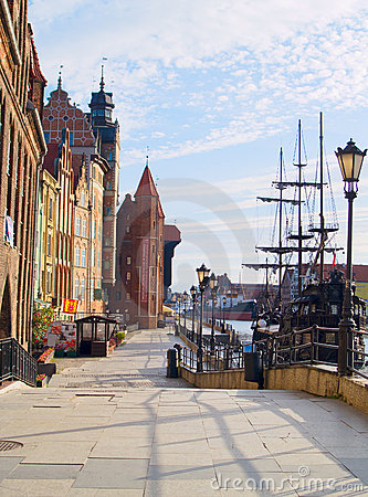 Embankment  of Motlawa river, Gdansk