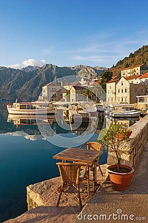 Free Embankment Of Perast Town. Montenegro Stock Photos - 83159323
