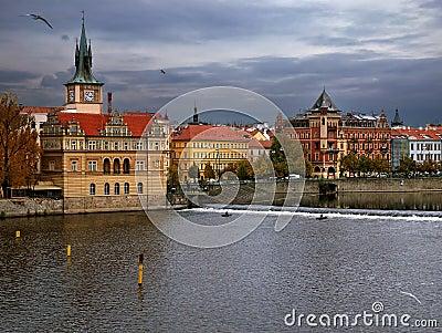 Embankment in Praha