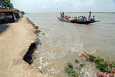 Embankment Problem in Sundarban Editorial Stock Photo