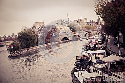 The embankment of the seine river Editorial Stock Photo