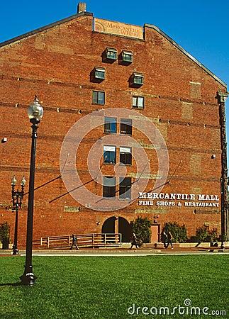 Embarcadero mercantil, Boston Foto de archivo editorial