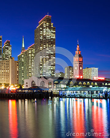 Free Embarcadero Towers And Ferry Building Royalty Free Stock Photos - 48652048
