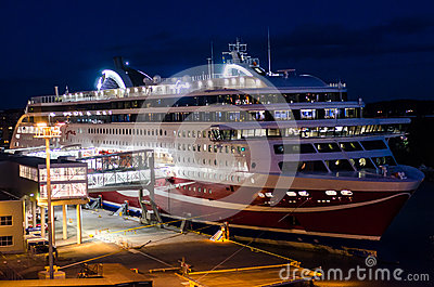 Embarking boat by night Editorial Photography