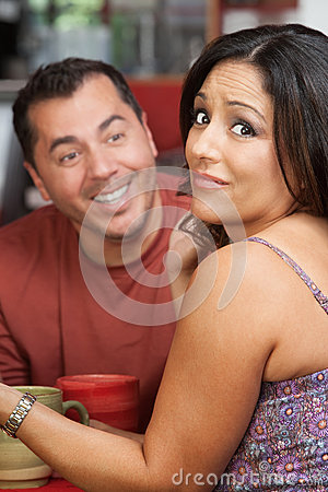 Free Embarrassed Woman And Flirting Man Stock Image - 28445571