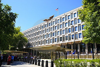 The Embassy of the United States London Editorial Stock Photo