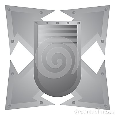 Emblem arrow metal