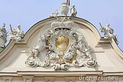 Emblem on the Belvedere castle