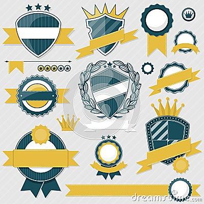 Emblem blank labels vector
